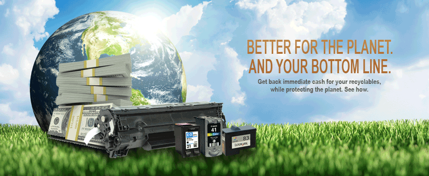 Better for the planet and your bottom line. Get immediate cash back for your recyclables, while protecting the planet. See how.